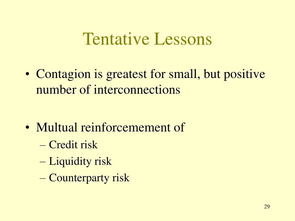 Tentative Lessons