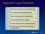 application layer protection