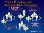 policies procedures and awareness layer compromise