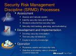 security risk management discipline srmd processes