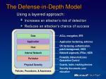 the defense in depth model
