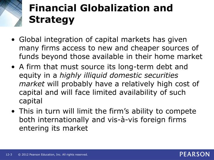 Financial globalization and strategy