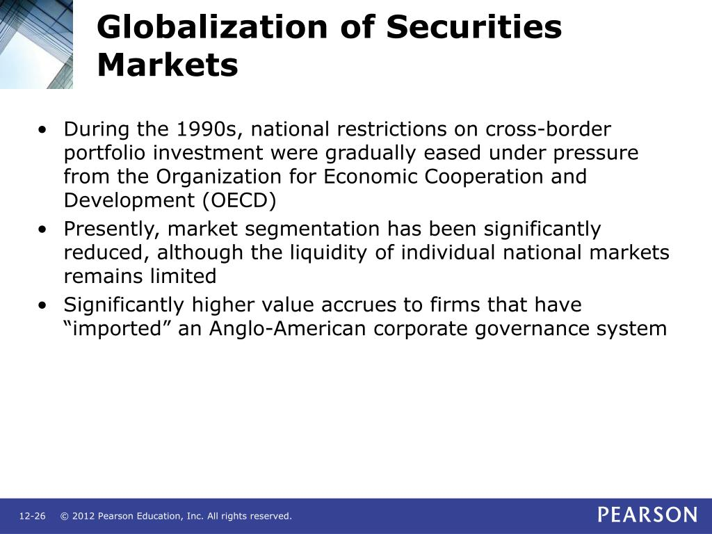 Globalization of Securities Markets