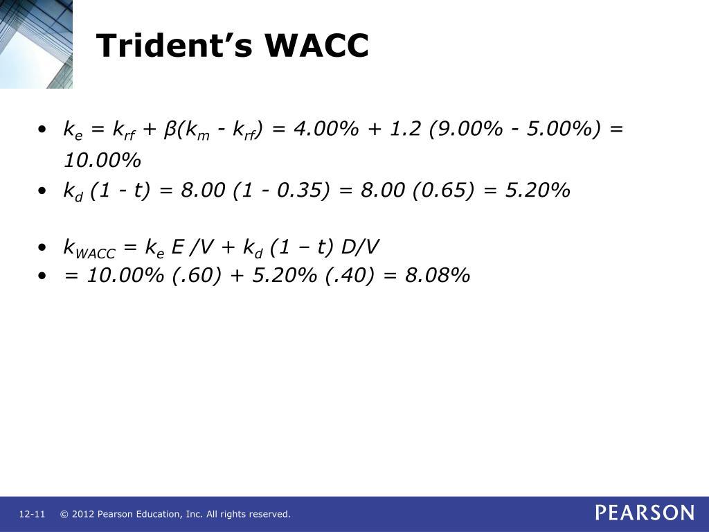 Trident's WACC