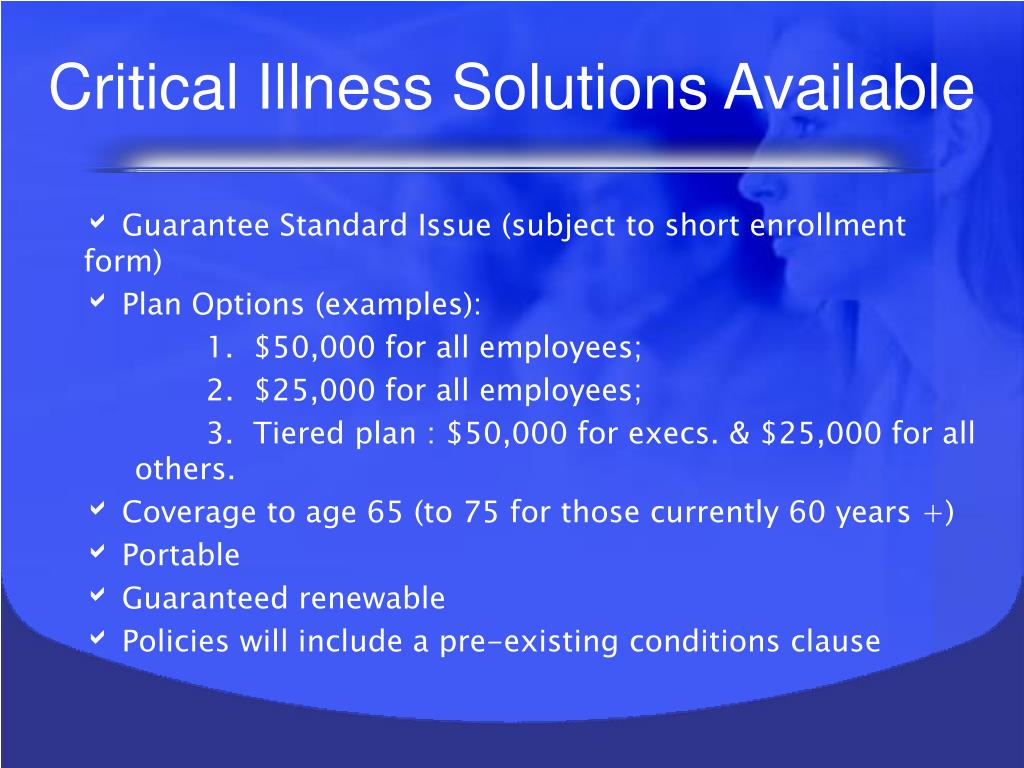 Critical Illness Solutions Available