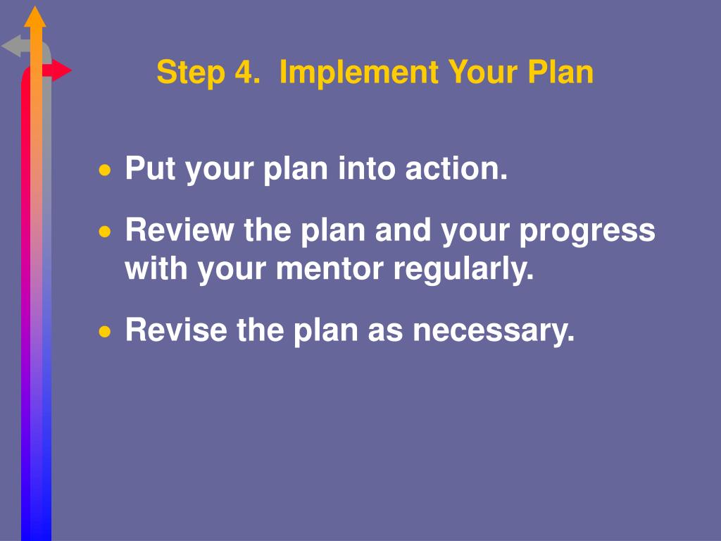 Step 4.  Implement Your Plan