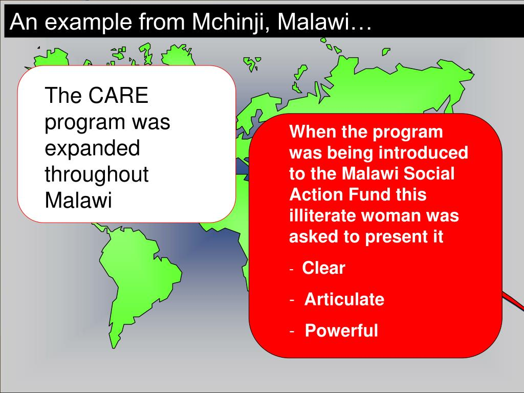 The CARE program was expanded throughout Malawi