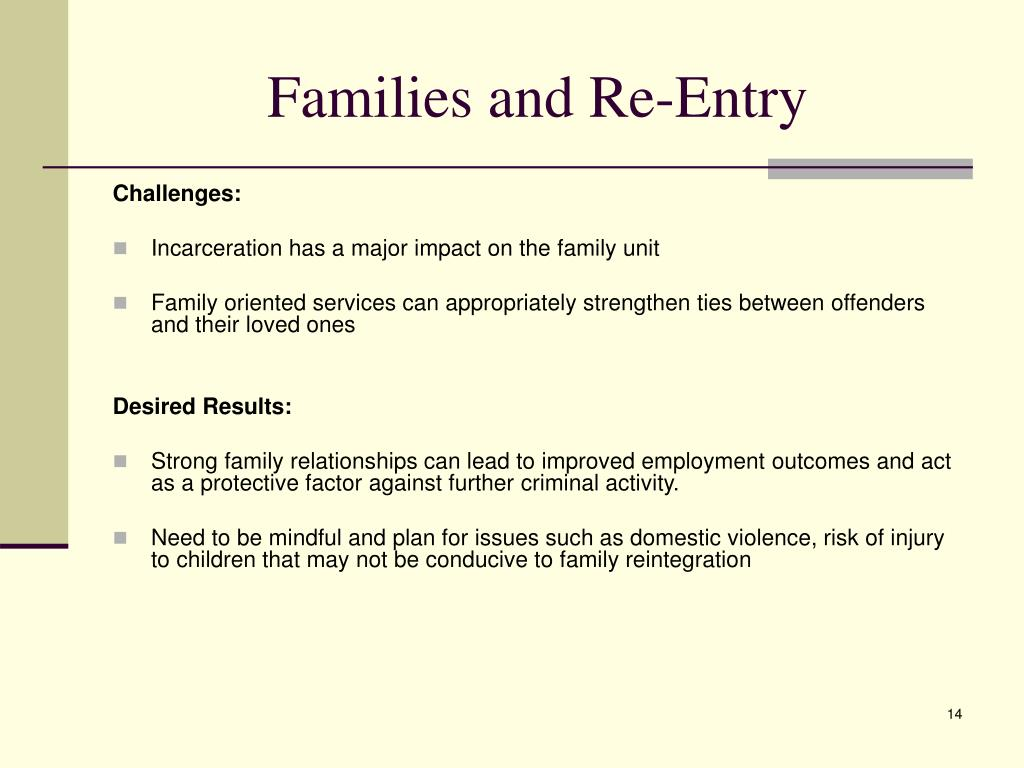 Families and Re-Entry