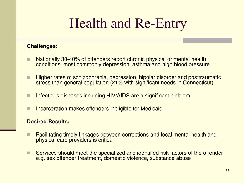 Health and Re-Entry