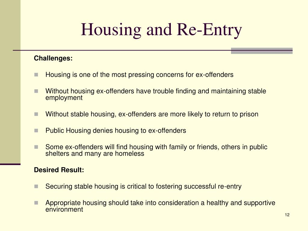 Housing and Re-Entry