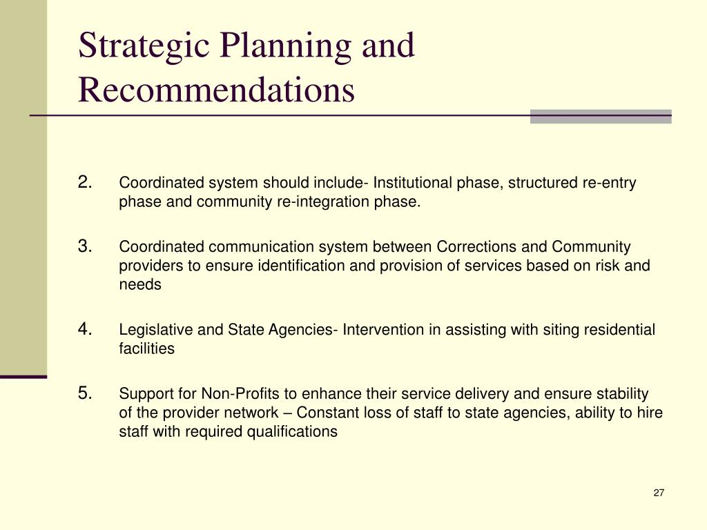 Strategic Planning and Recommendations