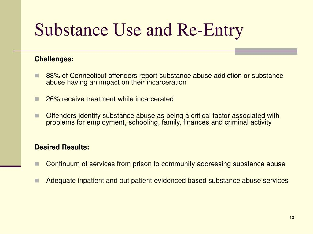 Substance Use and Re-Entry