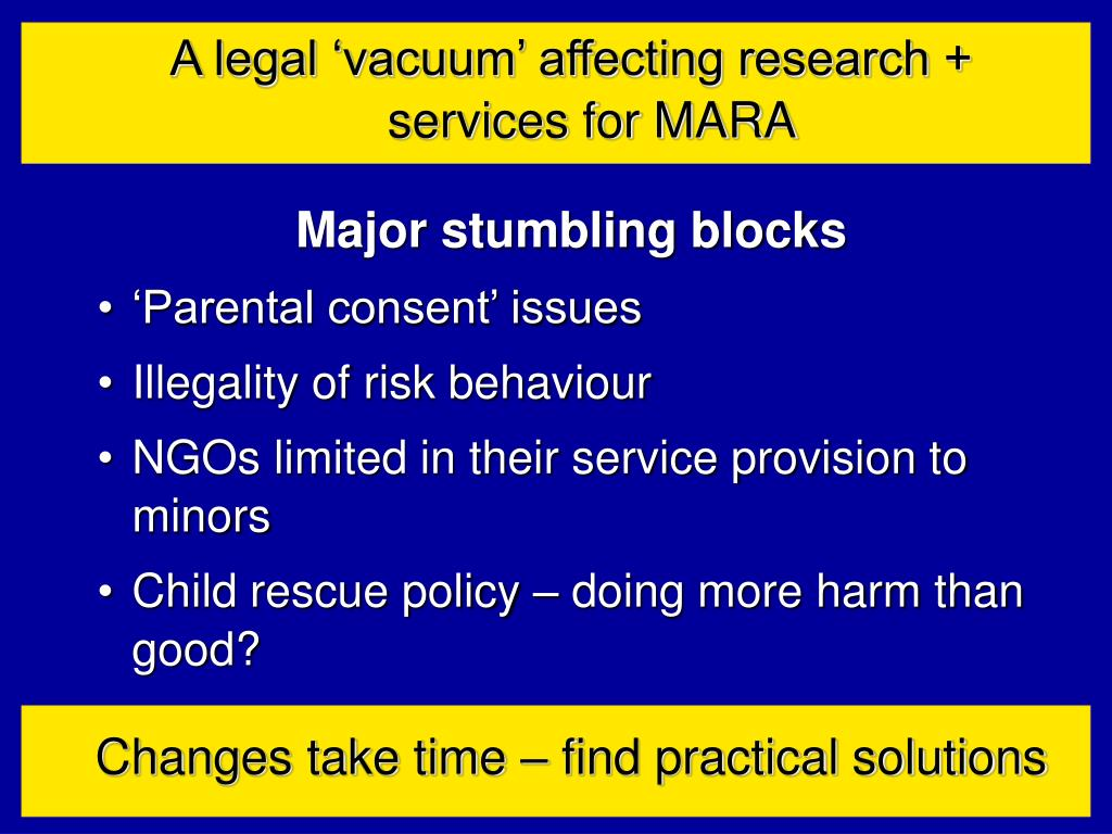 A legal 'vacuum' affecting research +