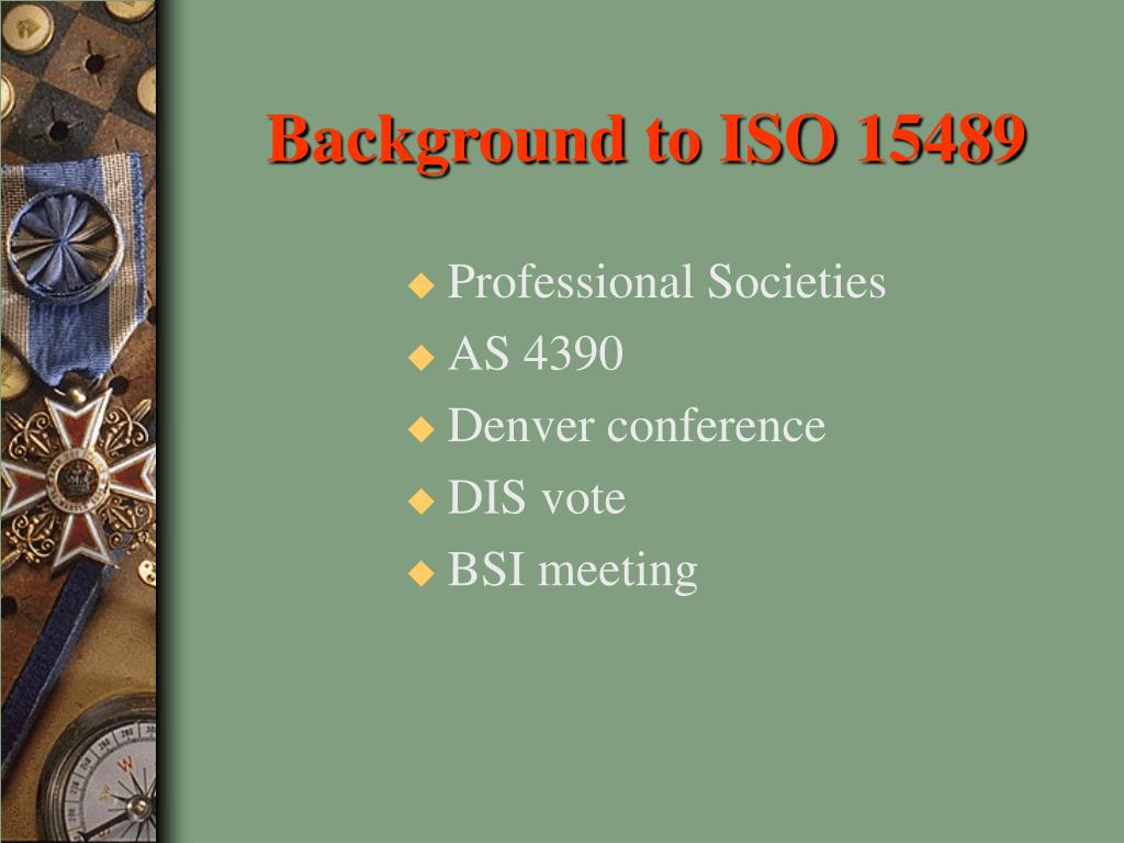 Background to ISO 15489