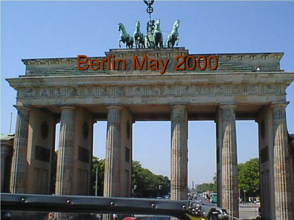 Berlin May 2000