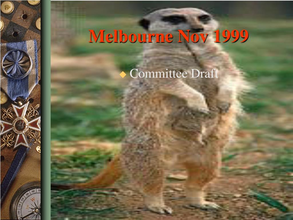 Melbourne Nov 1999