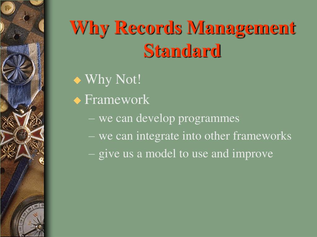 Why Records Management Standard
