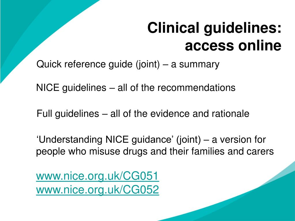 Clinical guidelines: