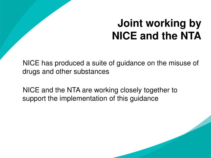 Joint working by nice and the nta