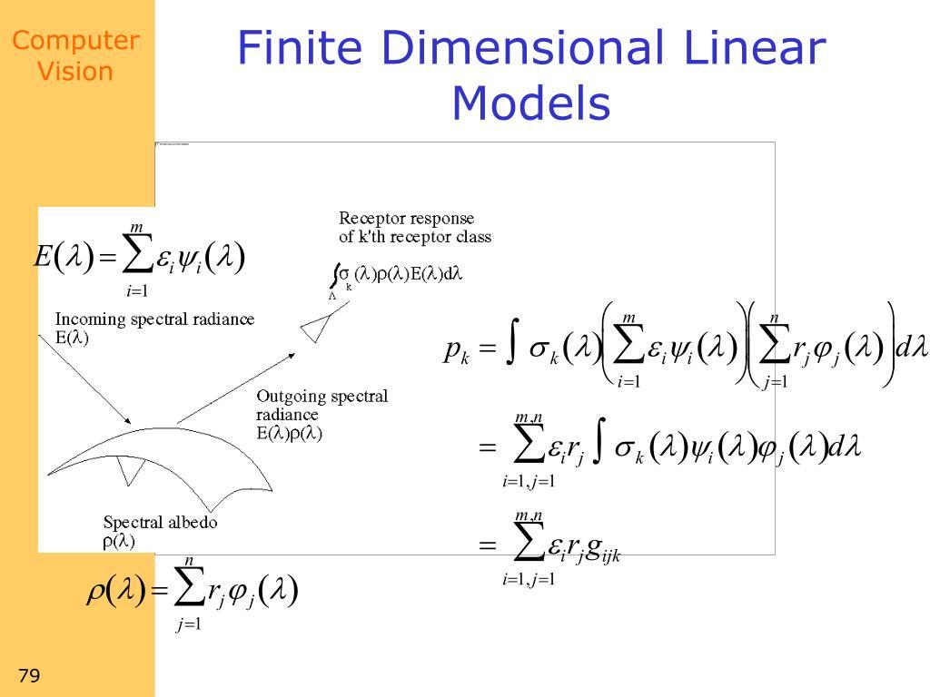 Finite Dimensional Linear Models