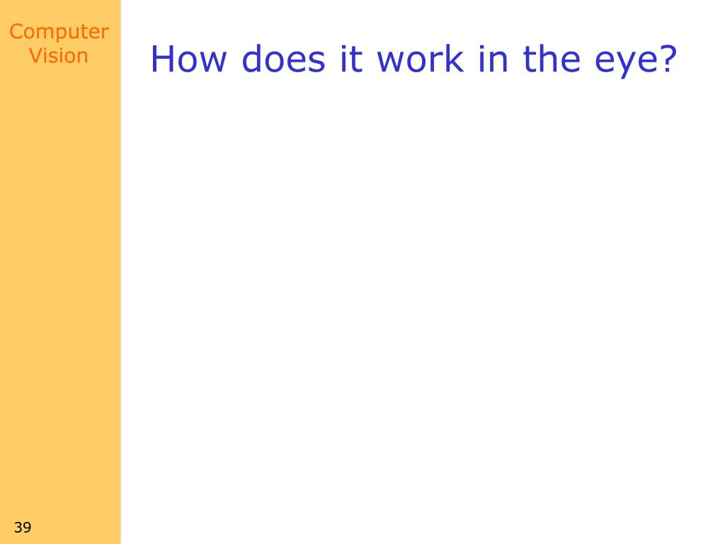 How does it work in the eye?