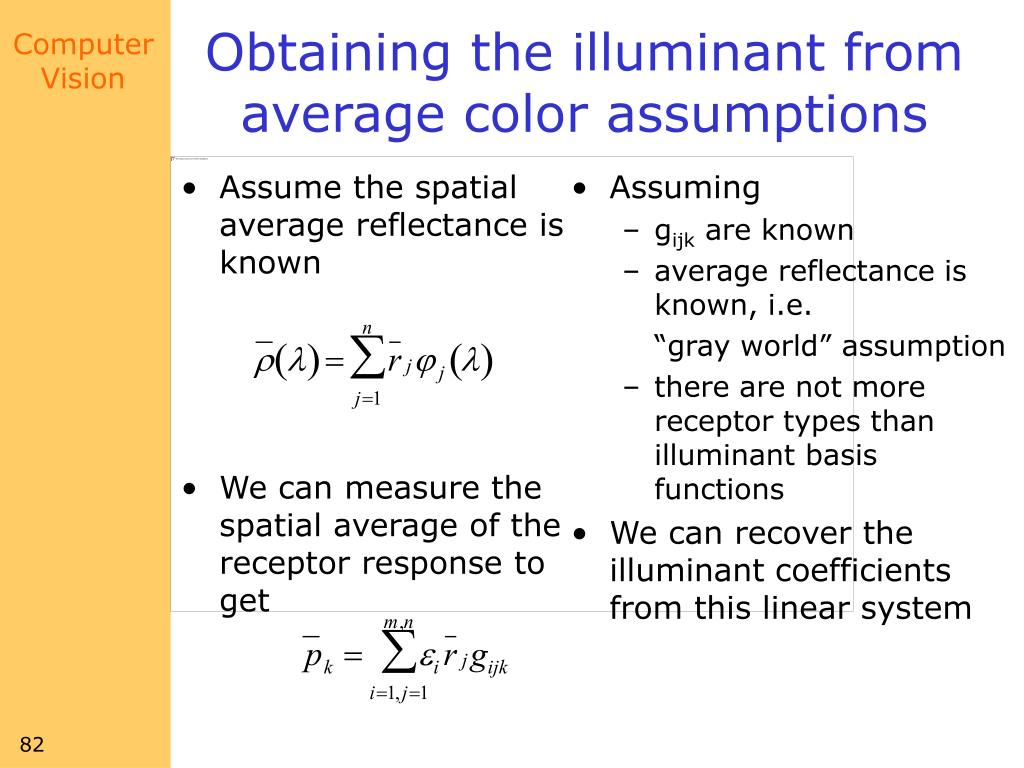 Assume the spatial average reflectance is known