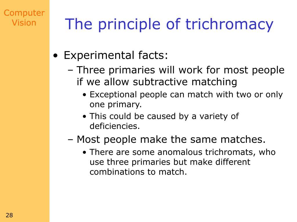 The principle of trichromacy