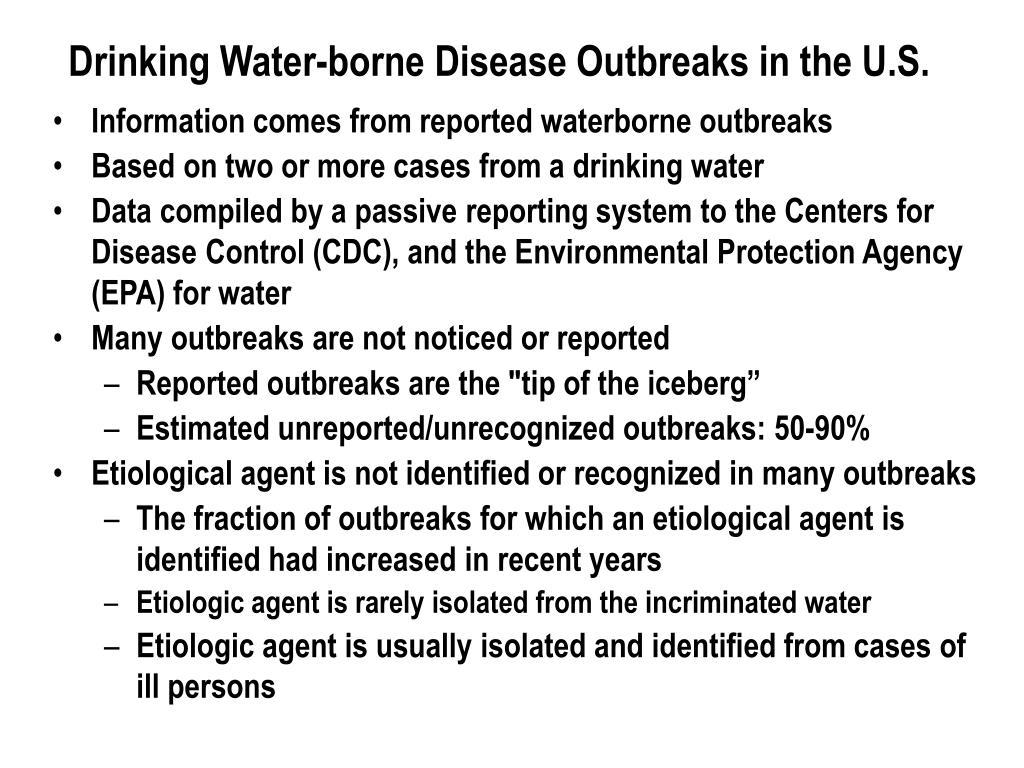 Drinking Water‑borne Disease Outbreaks in the U.S.