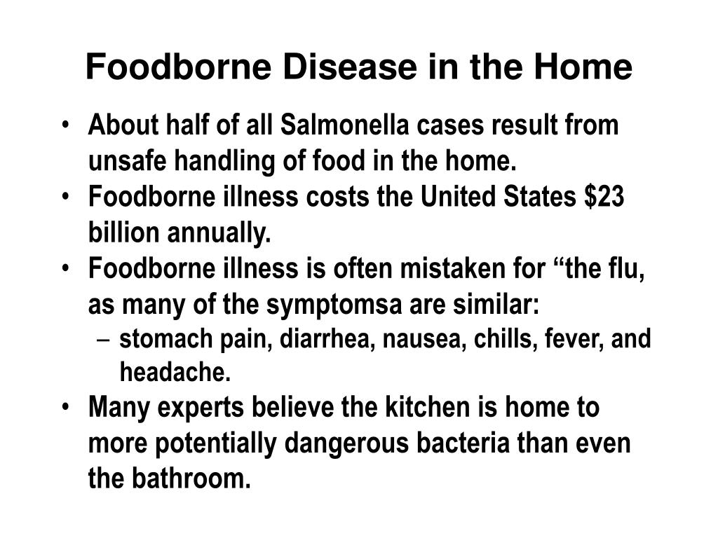 Foodborne Disease in the Home