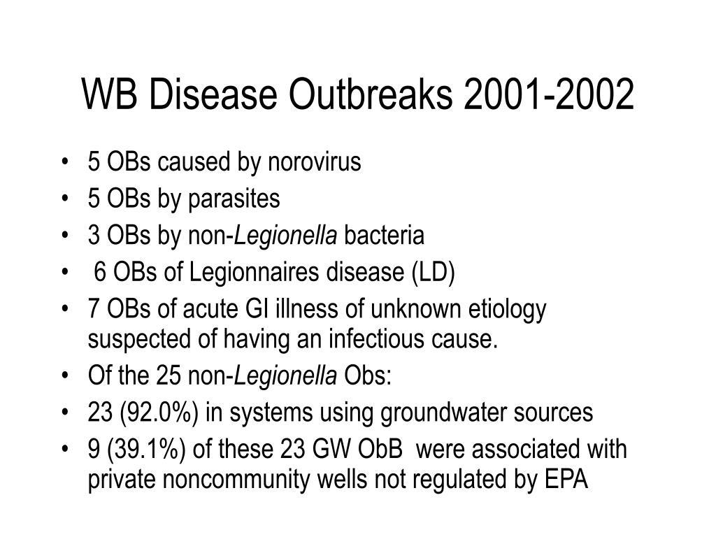 WB Disease Outbreaks 2001-2002