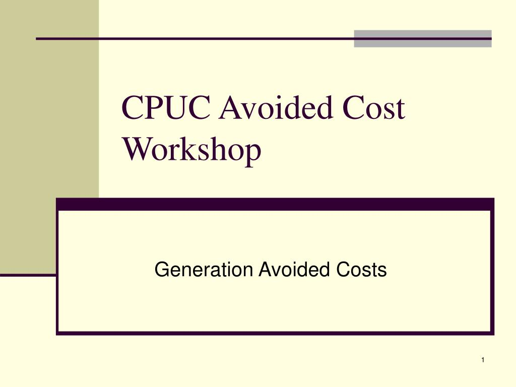 cpuc avoided cost workshop l.