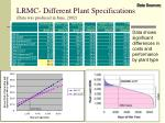 lrmc different plant specifications data was produced in june 2002