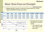 short term forecast example