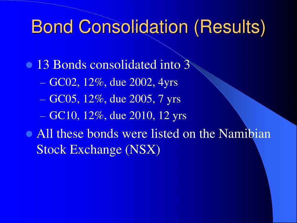 Bond Consolidation (Results)