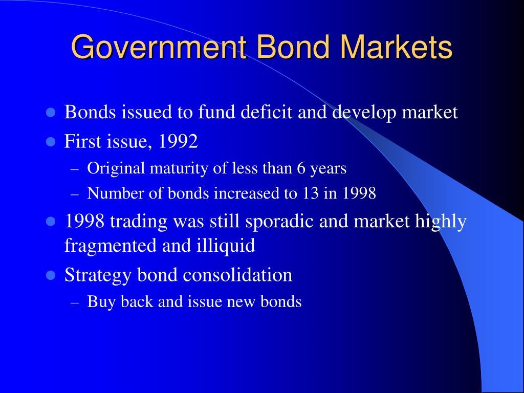 Government Bond Markets