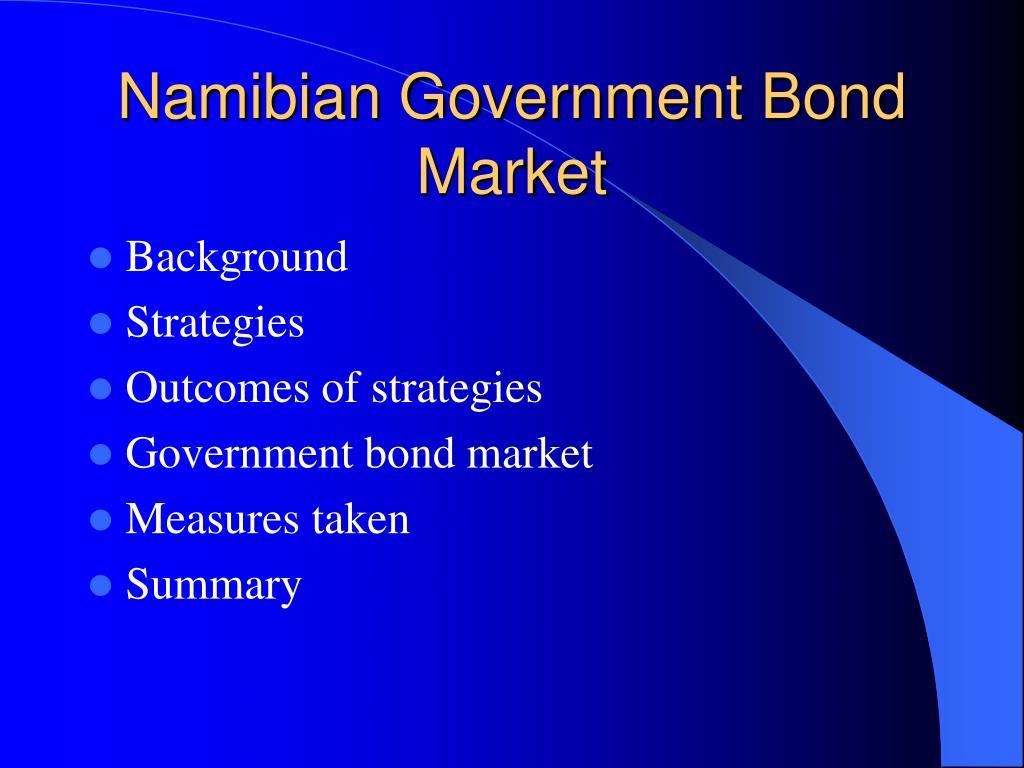 Namibian Government Bond Market