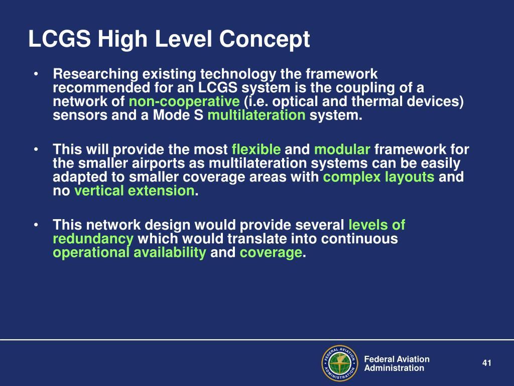 LCGS High Level Concept
