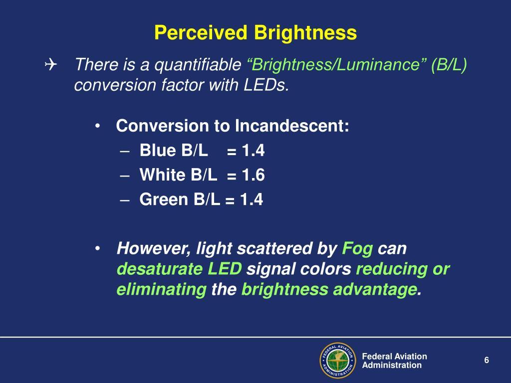 Perceived Brightness
