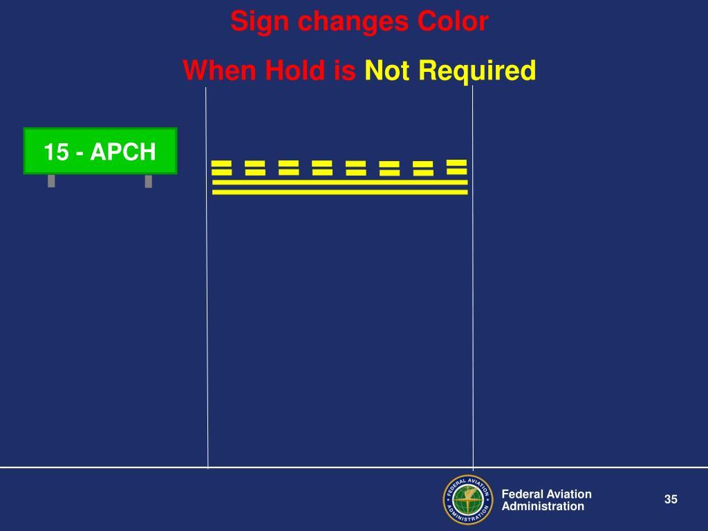 Sign changes Color