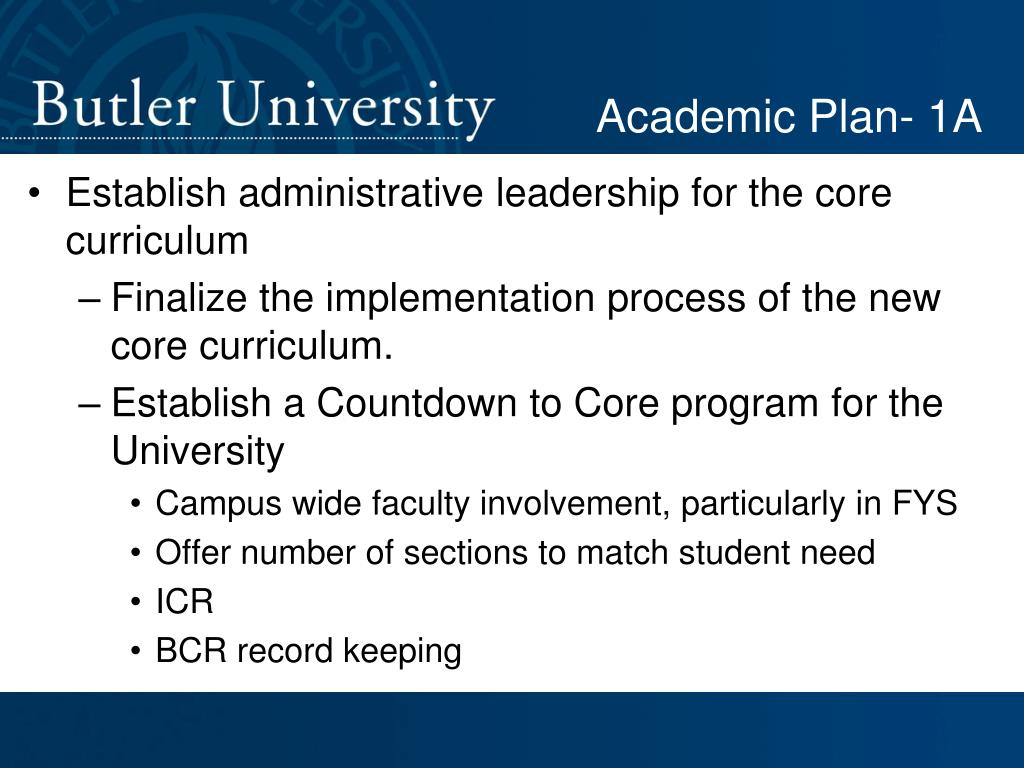 Academic Plan- 1A