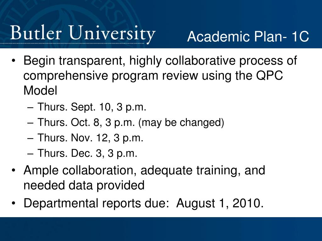Academic Plan- 1C