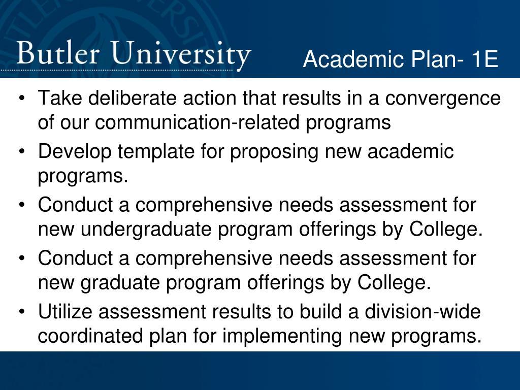 Academic Plan- 1E