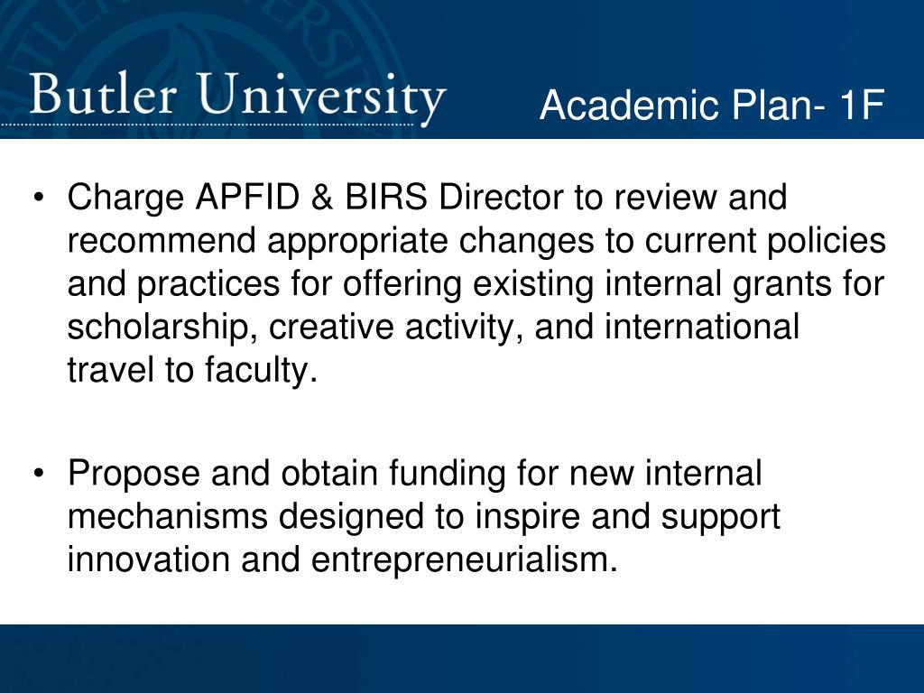 Academic Plan- 1F