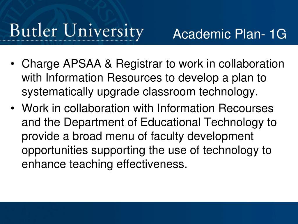 Academic Plan- 1G