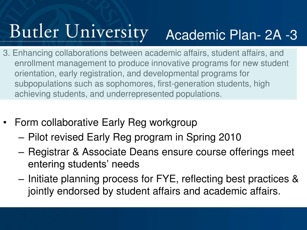 Academic Plan- 2A -3