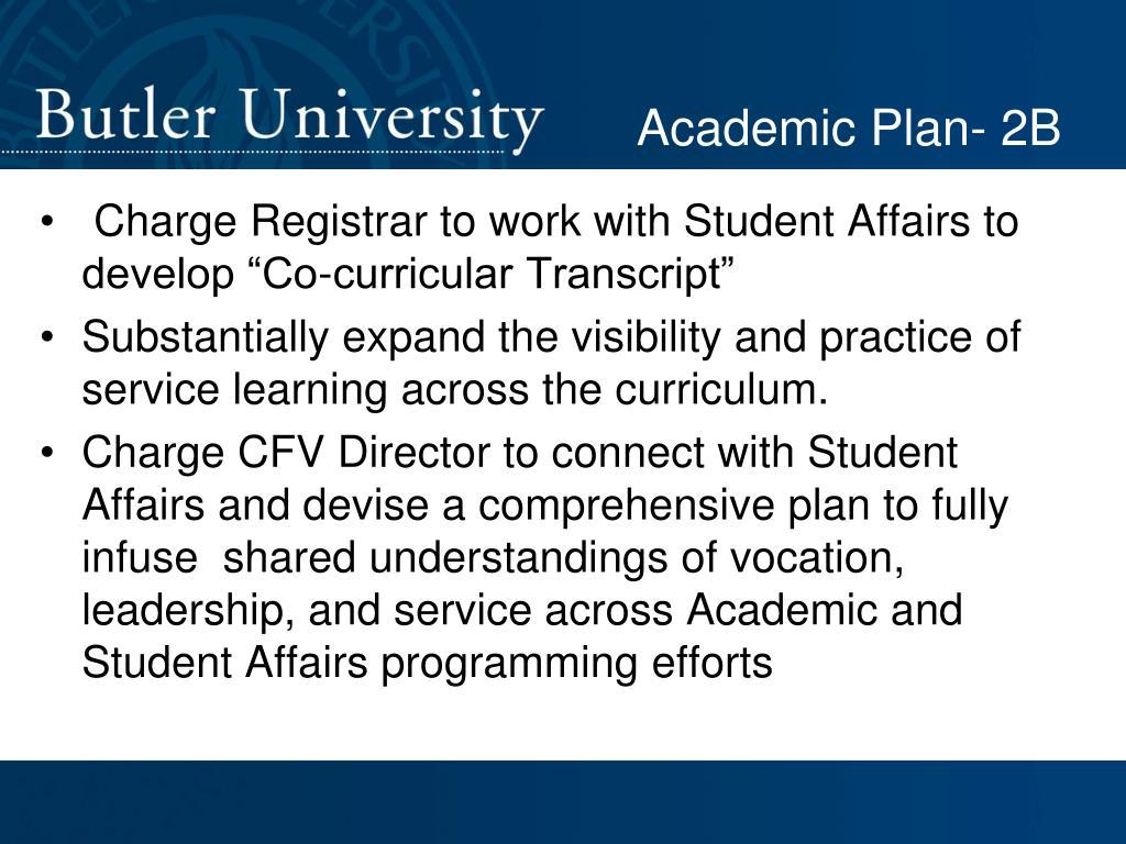 Academic Plan- 2B