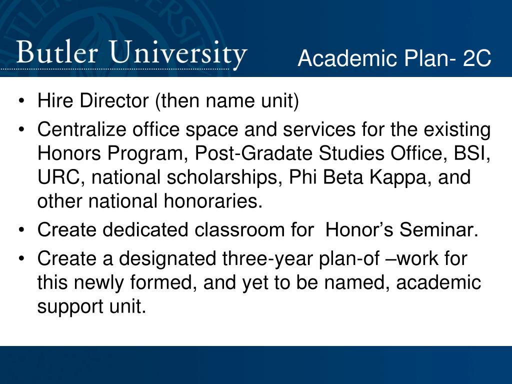 Academic Plan- 2C