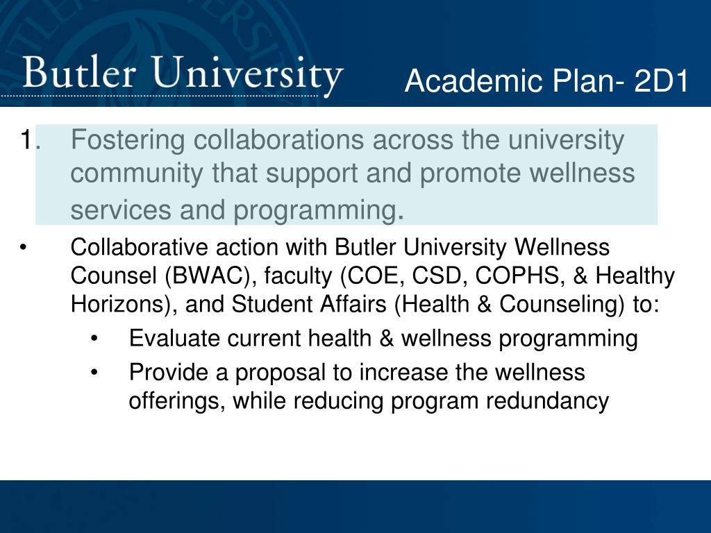 Academic Plan- 2D1
