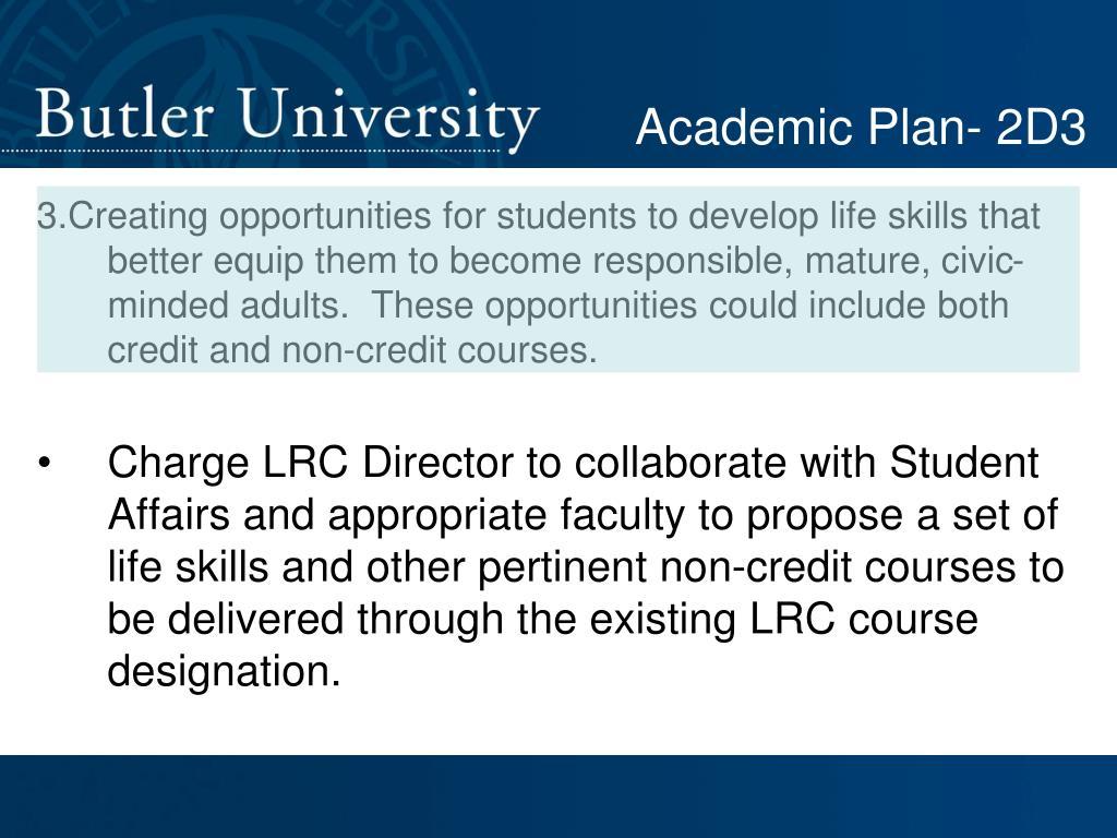 Academic Plan- 2D3