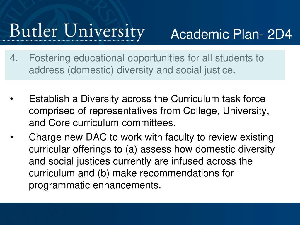 Academic Plan- 2D4